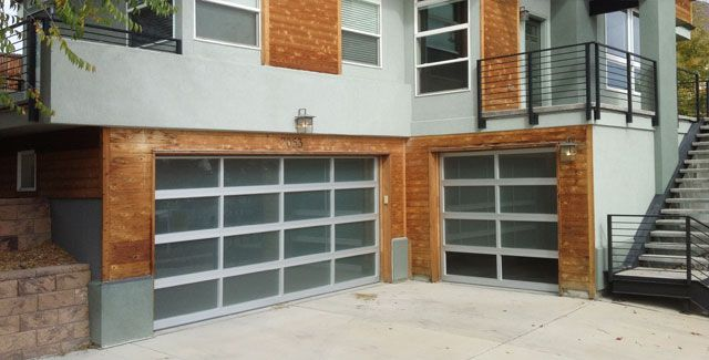 All Glass Modern Garage Door Installed By A And J Garage Doors