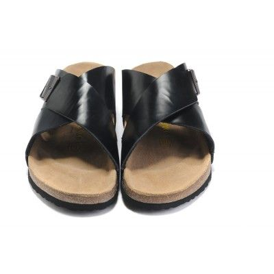 56d674b36e86 Women's Birkenstock Guam Oiled Leather Black Sandals Outlet Sale ...