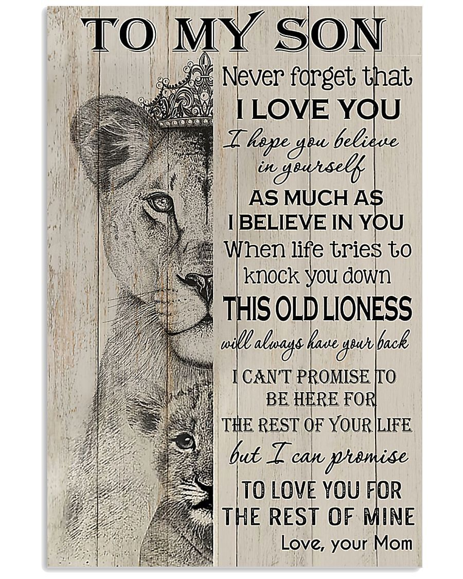 To My Son Wall Art Canvas Gift For Son Daughter Anniversary Birthday Christmas Gift Never Forger That I Love You Love You Mom My Love Love You