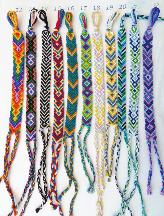Colorful Friendship Bracelets Hippie Bracelets By