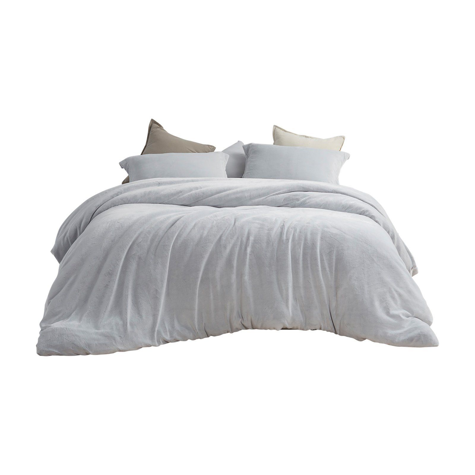Coma Inducer Frosted Duvet Cover By Byourbed Granite Gray