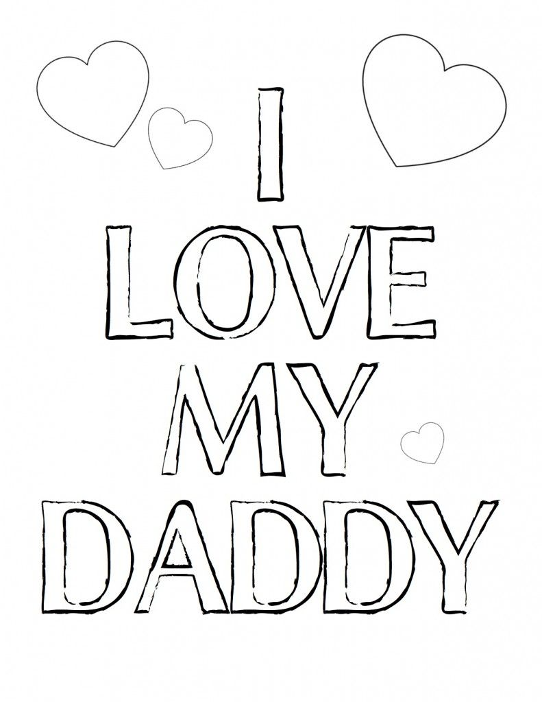 free printable fathers day coloring - Free Printable Coloring Pictures