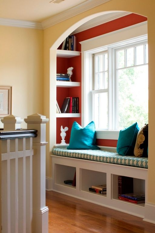 Traditional Hallway with double-hung window, Crown molding ...