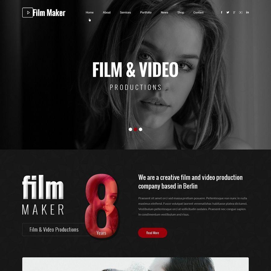 Cinema Wordpress Theme For Film Videographer Bollywood Hollywood Actor Cool Websites Cinema Wordpress Theme