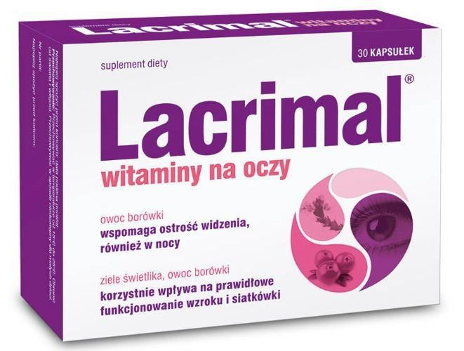 Lacrimal Vitamins Eye x 30 capsules, vitamins for eye health