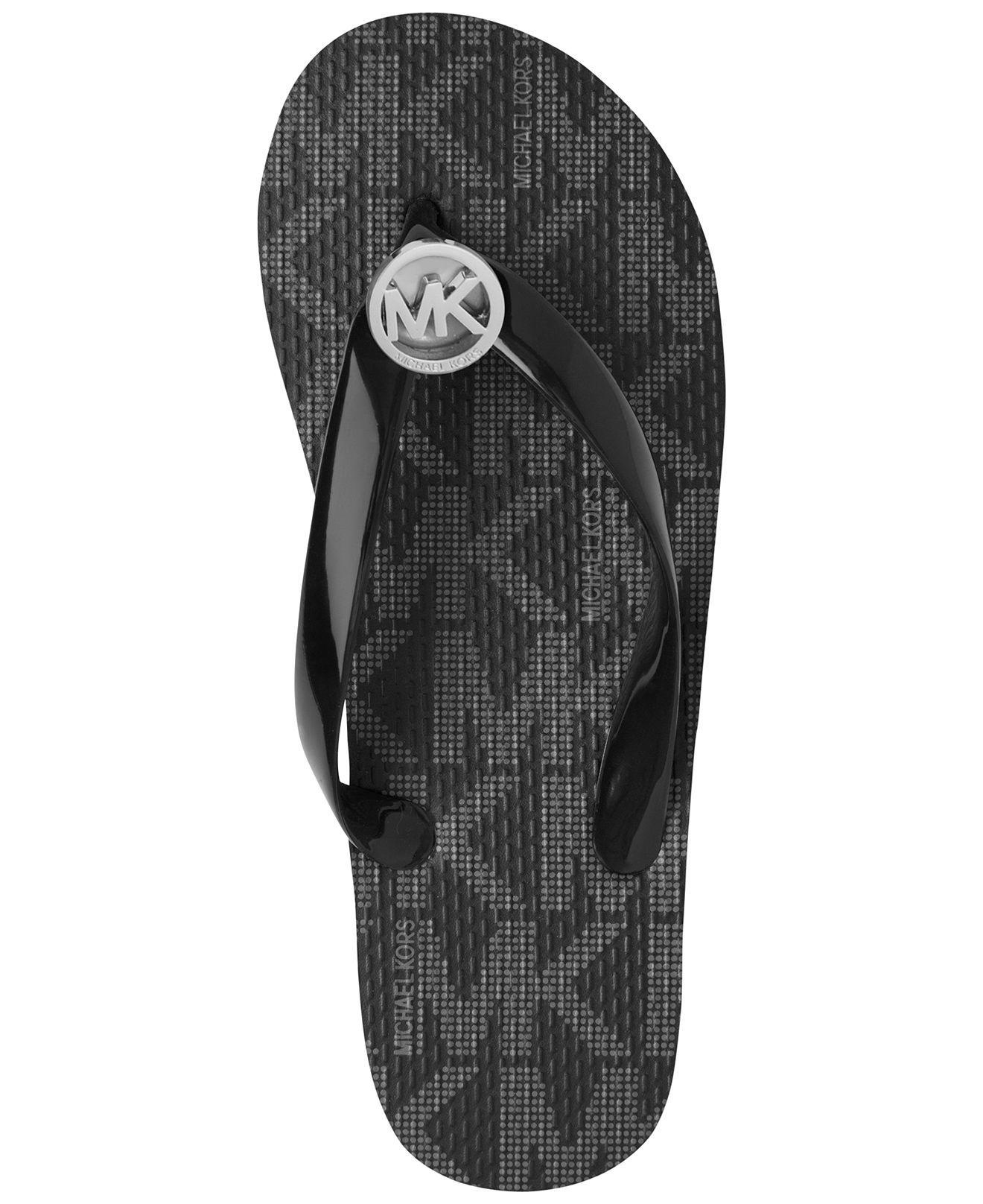 Black sandals michael kors - Michael Michael Kors Mk Flip Flops All Women S Shoes Shoes Macy S