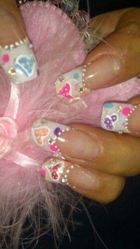 Nails corazón