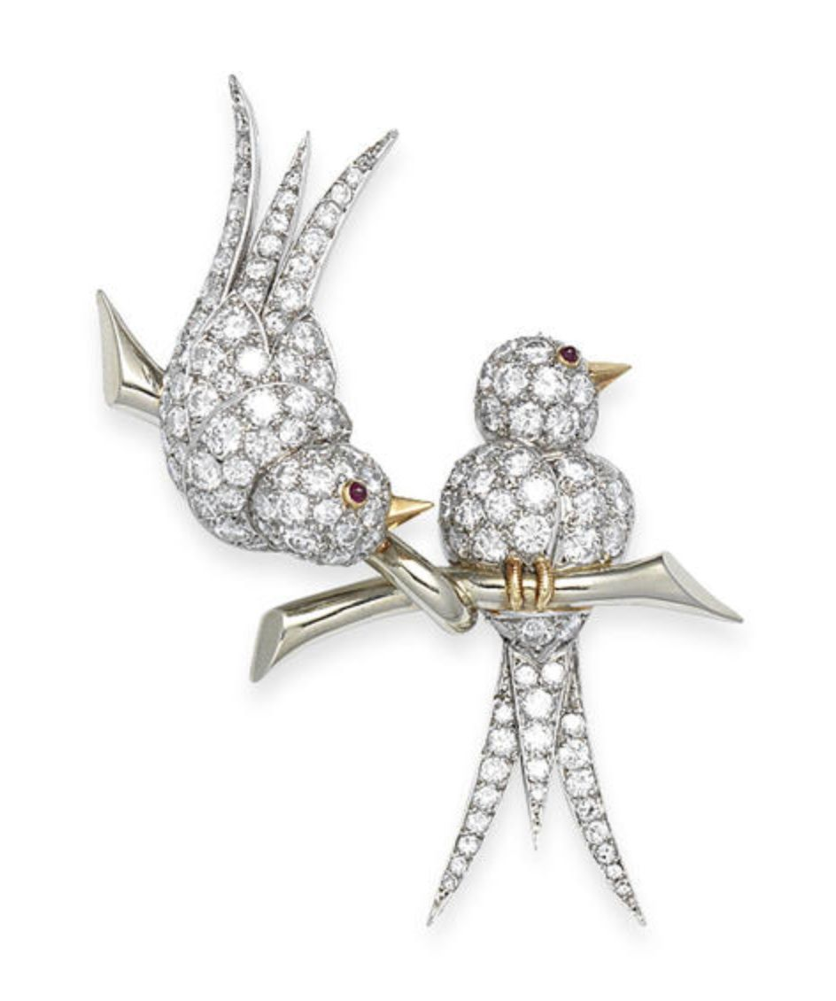 552b9a28c Lot 60 - A diamond bird brooch, by Van Cleef & Arpels, circa 1965 ...