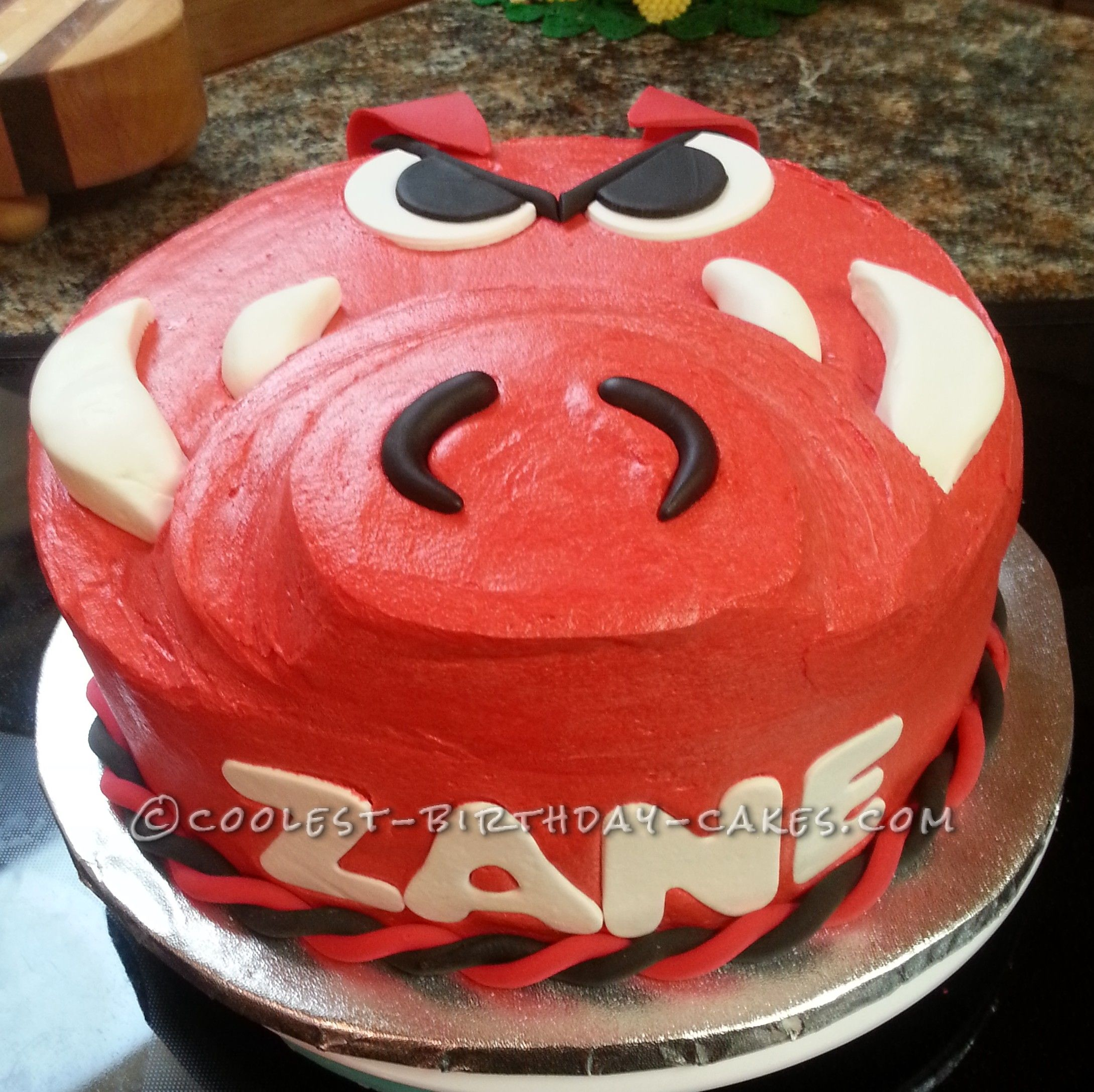 Go Hogs! Razorbacks Birthday Cake!...