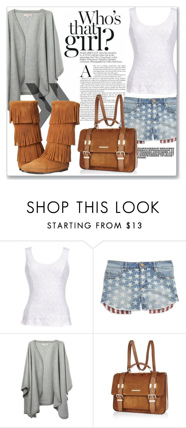"""""""Out and about"""" by selmagorath ❤ liked on Polyvore featuring Thalia Sodi, Tinsel, River Island and Minnetonka"""
