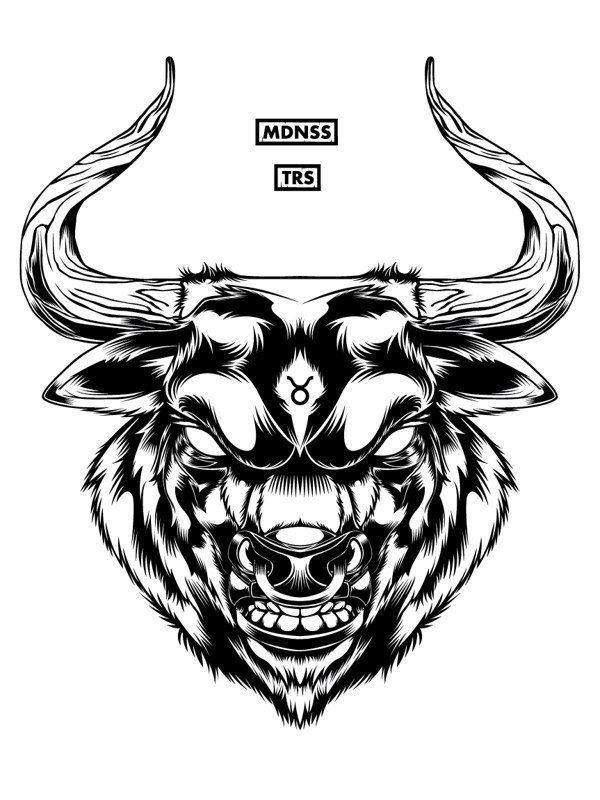 Pin by keffart Keff on Graphic design & logos | Pinterest ... Taurus Bull Drawing