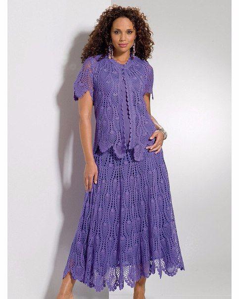 8ebe3a14666 Женский костюм крючком схема и описание. Схемы вязания крючком для женщин