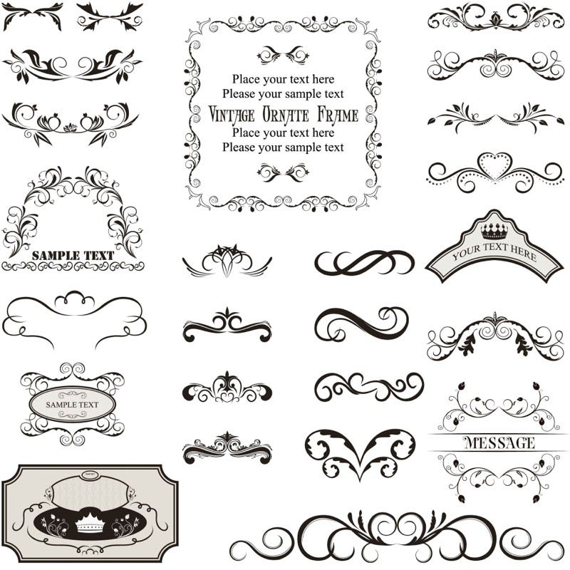 Free decorative label templates vintage decorated frame set of vector vintage decorated frame templates and borders dividers in decorative ornate style for your embellishment of cards and other designs reheart Choice Image