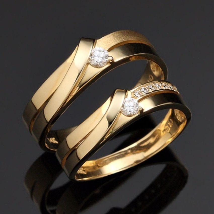Engagement Gold Wedding Ring Designs For Couple