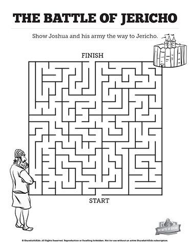 Walls of Jericho Bible Mazes: With just enough challenge
