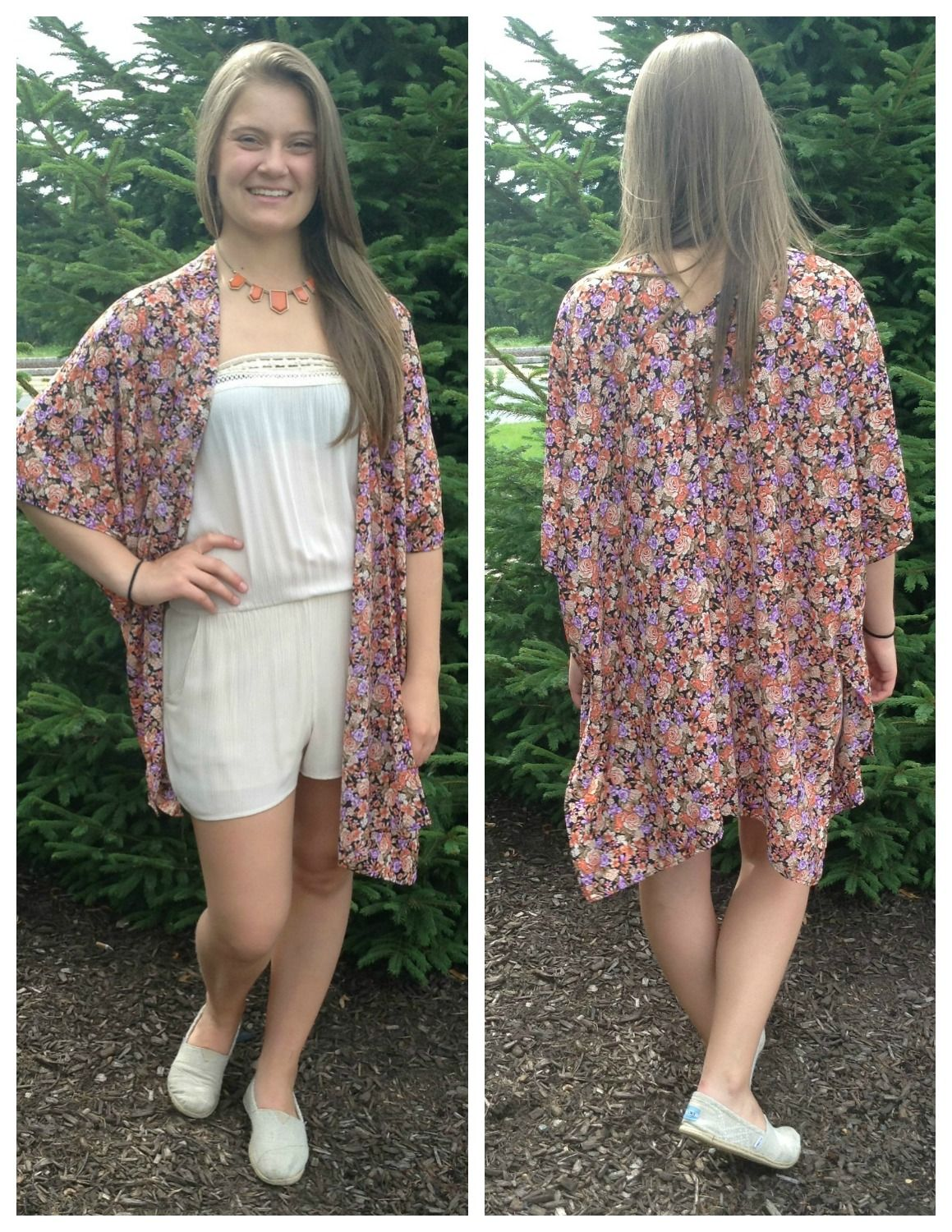 Floral kimono. Perfect for a day at the beach or walk through the park in the fall!