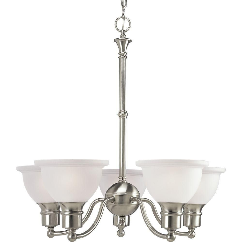 Progress Lighting Madison 5 Light Brushed Nickel Chandelier