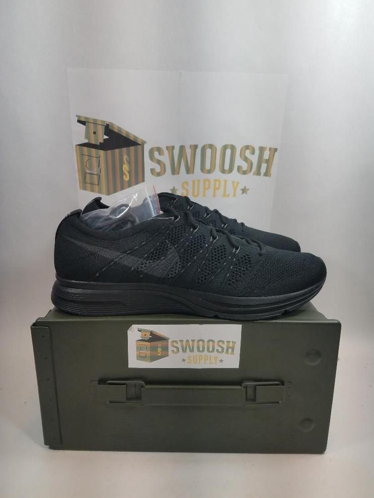 info for 6fa38 0a7cc Nike Flyknit Trainer Triple Black Anthracite Running Cross AH8396-004 Mens  Size  Nike  RunningShoes