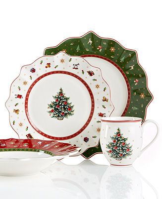 Villeroy Boch Toy S Delight Dinnerware Collection Reviews Fine China Macy S Christmas Dinnerware Christmas Dinnerware Sets Christmas Tableware