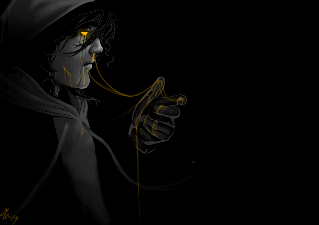 I recieved a lot of requests to draw him on my Jeff blog lately so yeah, why not. His design is super cool and such a delight to draw. I'll just be doing Creepypasta art now forever, k thanks ...