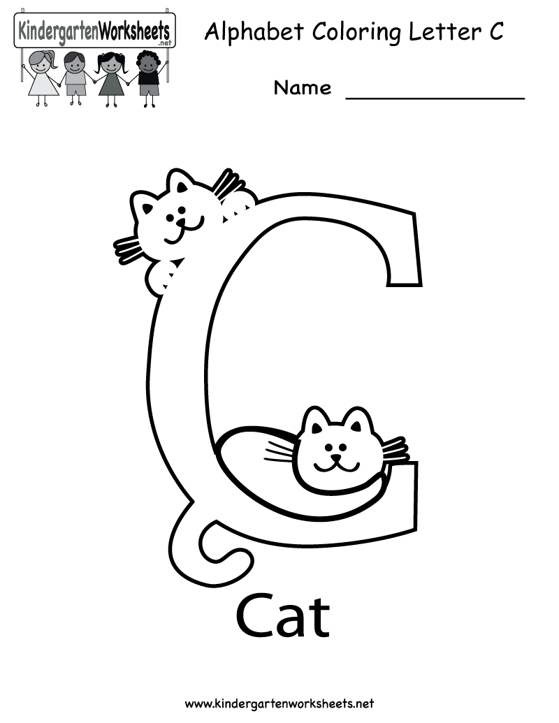 Kindergarten Letter C Coloring Worksheet Printable Worksheets