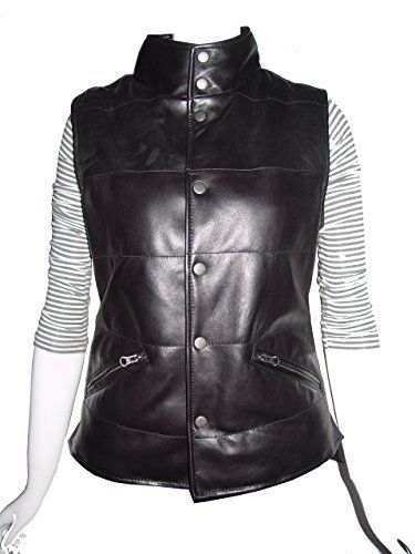 Abetteric Women Solid-Colored Thick Warm Stand Collar Quilted Puffer Vest