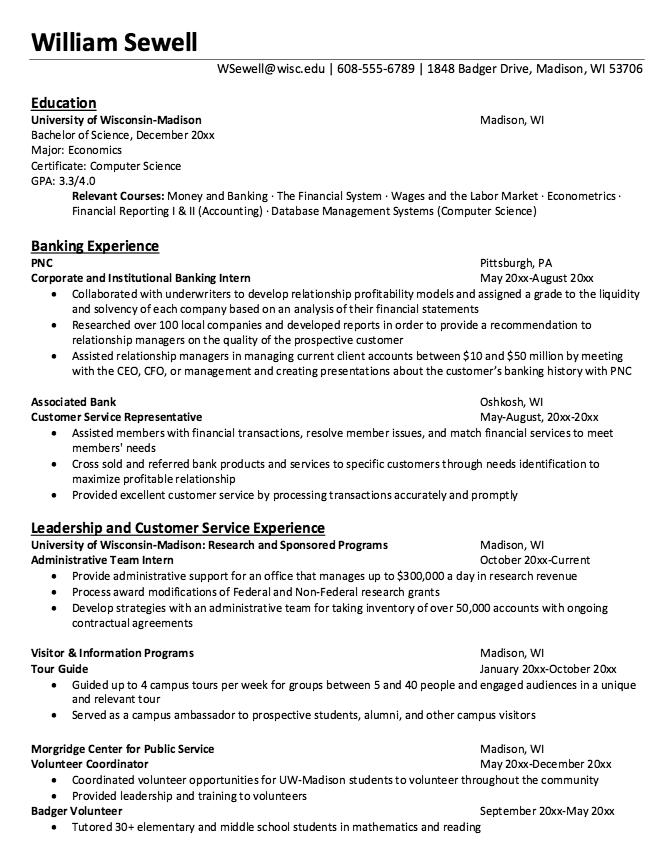 Resume Sample For Bank Receptionist Free Resume Sample