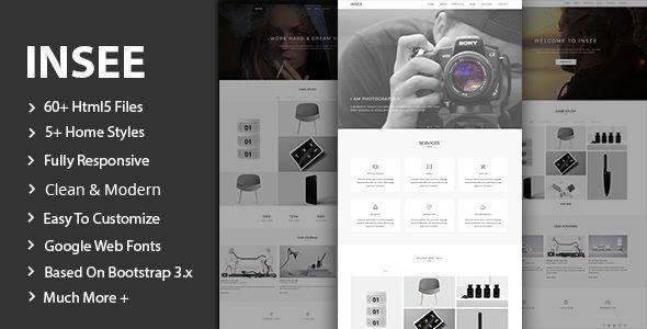 Insee - Minimal Portfolio Template Site Templates / Creative / Portfolio by lovely_theme