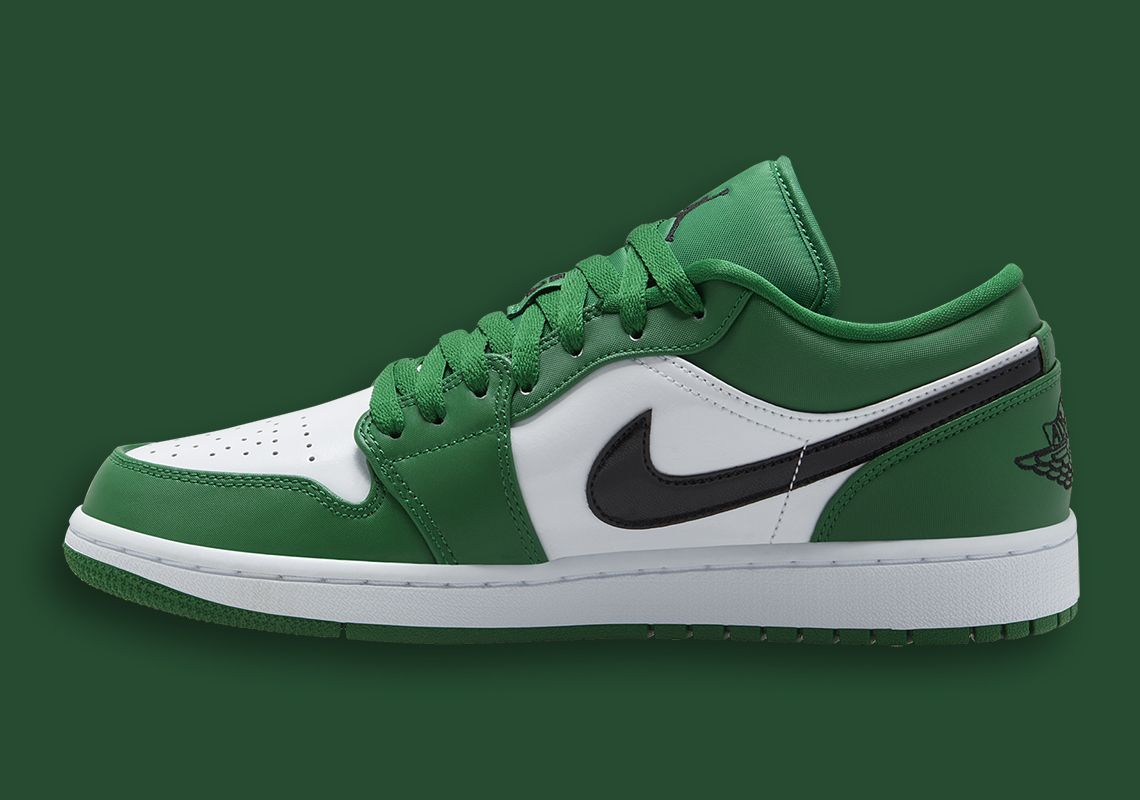 Another Air Jordan 1 Low With A Pine Green Palette Jordan 1 Low Air Jordans Jordan 1