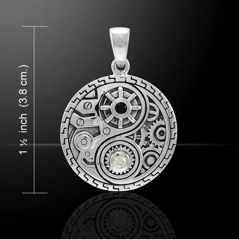 Yin Yang Steampunk Mechanics Pendant Necklace Costume Necklaces and Pendants Rustic Gears and Cogs Jewellery