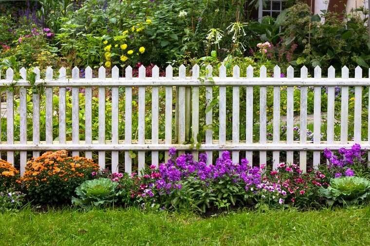Separation Jardin Cloture Bois Idees Idees Pour Le Jardin