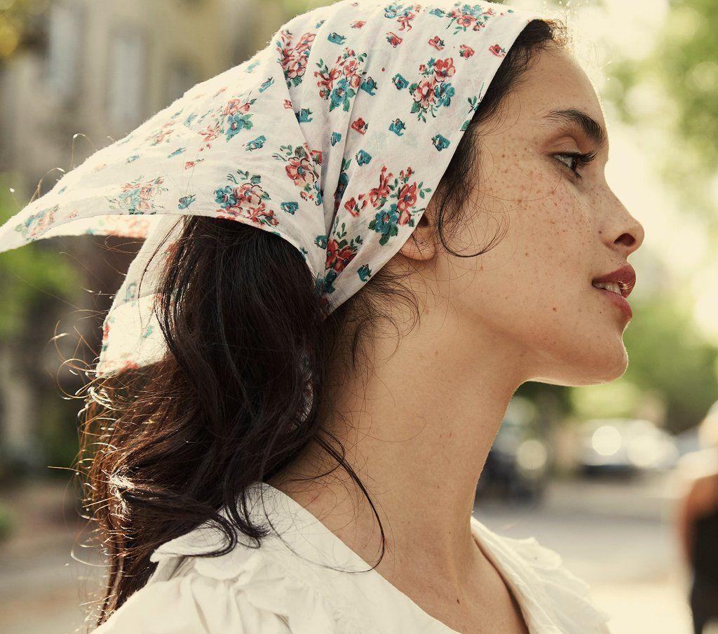 Penny Bandana Fleur De Rosette Print Doen Scarf Hairstyles