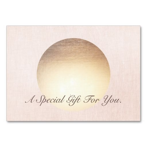 Elegant and Modern Gold Moon Gift Certificate Large Business Cards