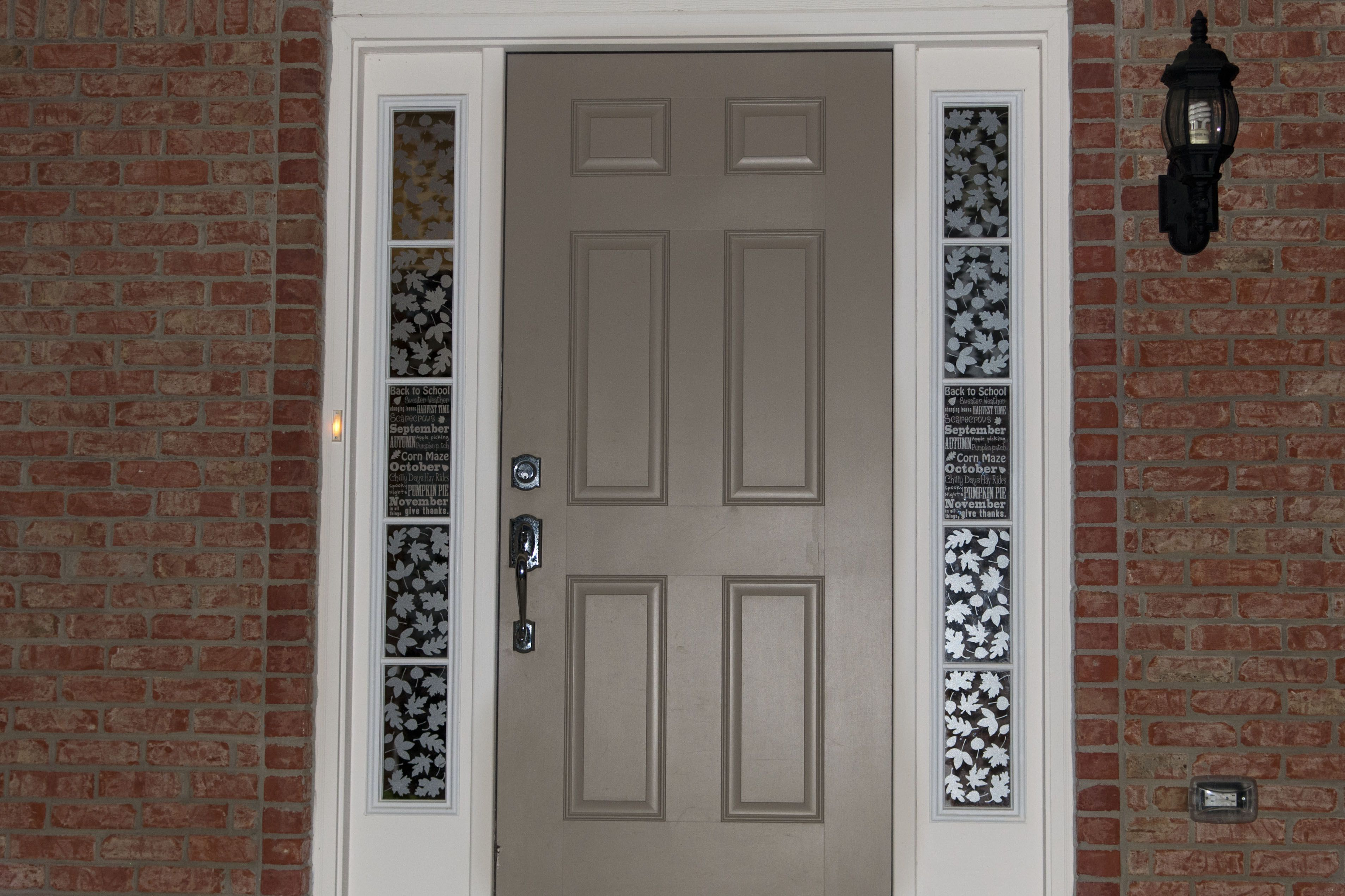 Depiction Of Sidelight Window Treatments On The Main Entry Doors