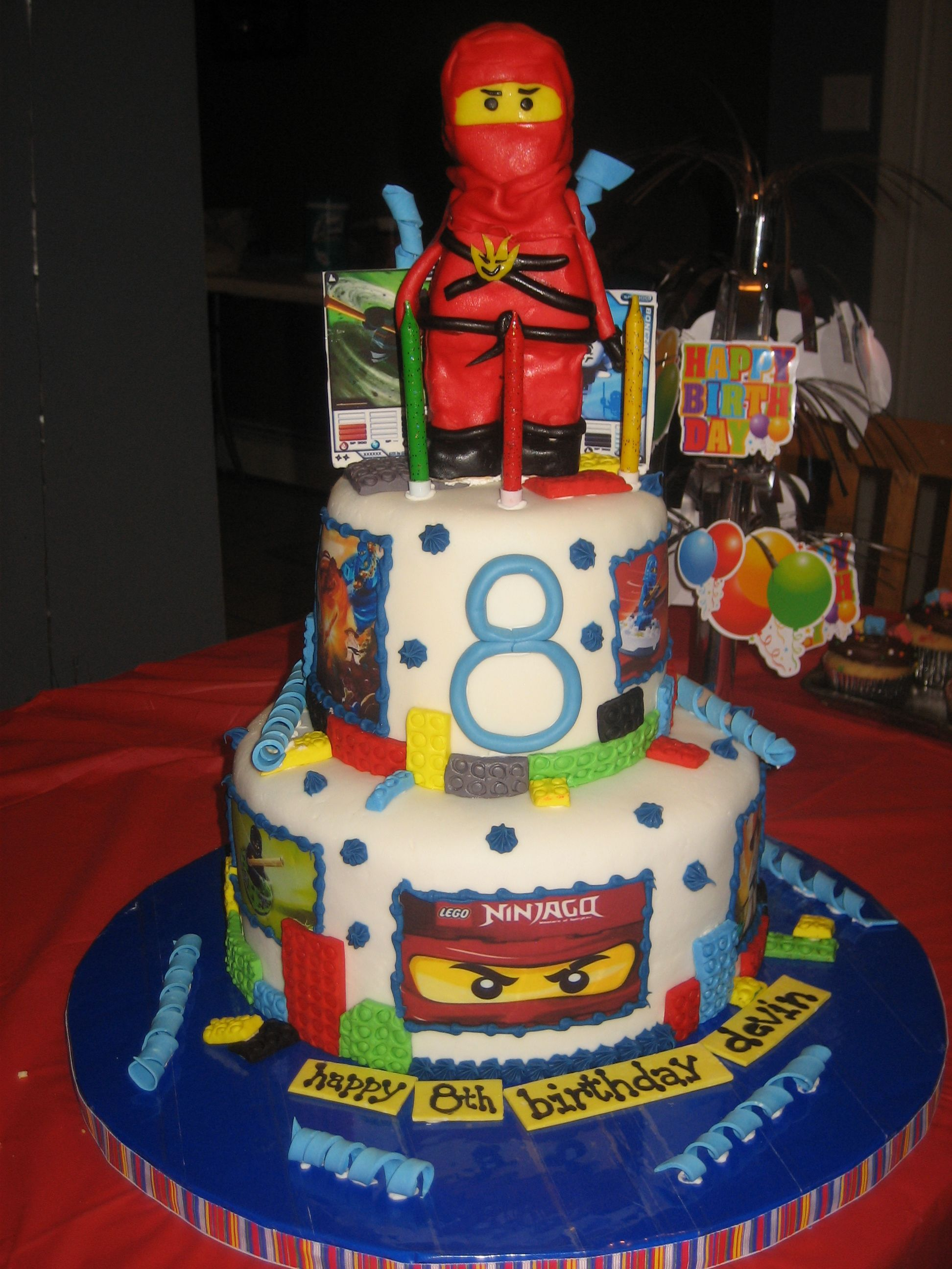 Lego Ninjago Birthday Cake | Kristens Cakes and Kreations