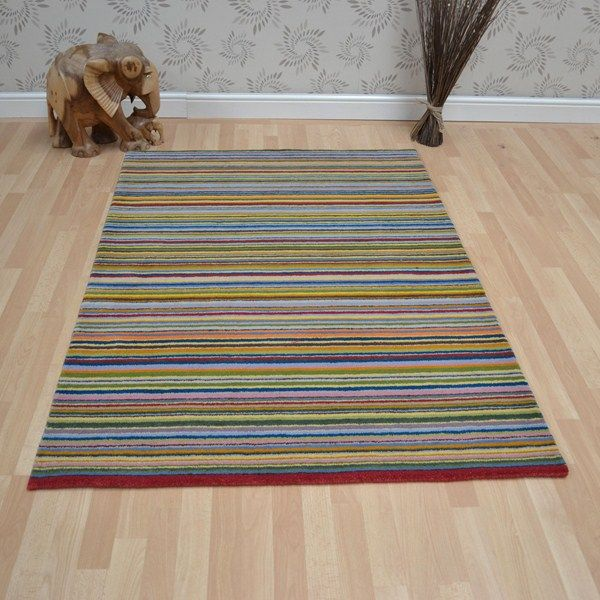 Wool Stripes Rugs In Multi Online From The Rug Er Uk