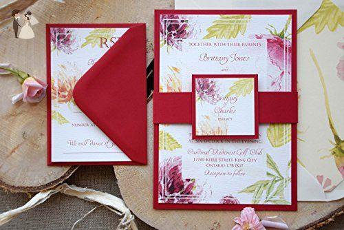 Burgundy Frame Wedding Invitation Red And Cream Sample Wedding Party Invitations Amazon Partner Link Idei Dlya Podelok Idei