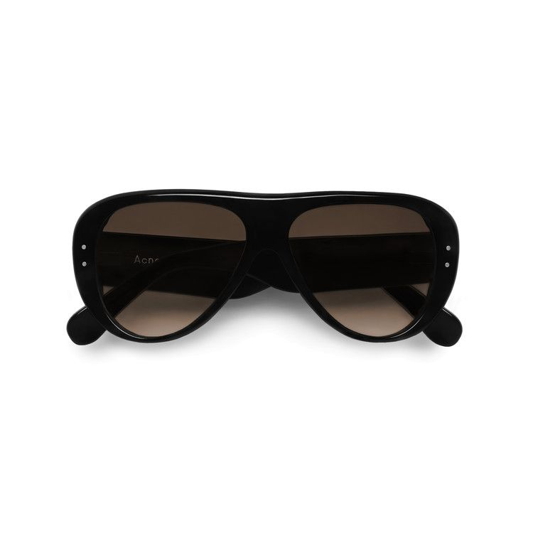 Acne Studios Indy black/brown are thick acetate sunglasses with contrasting lense colours.