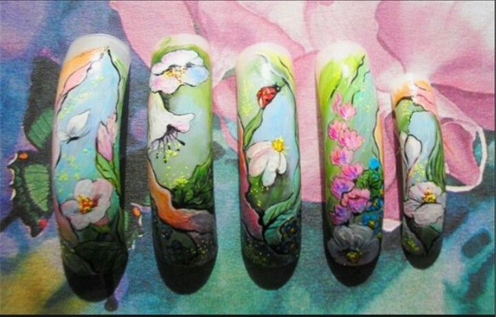 Flores | Nails Art | Pinterest | Flores