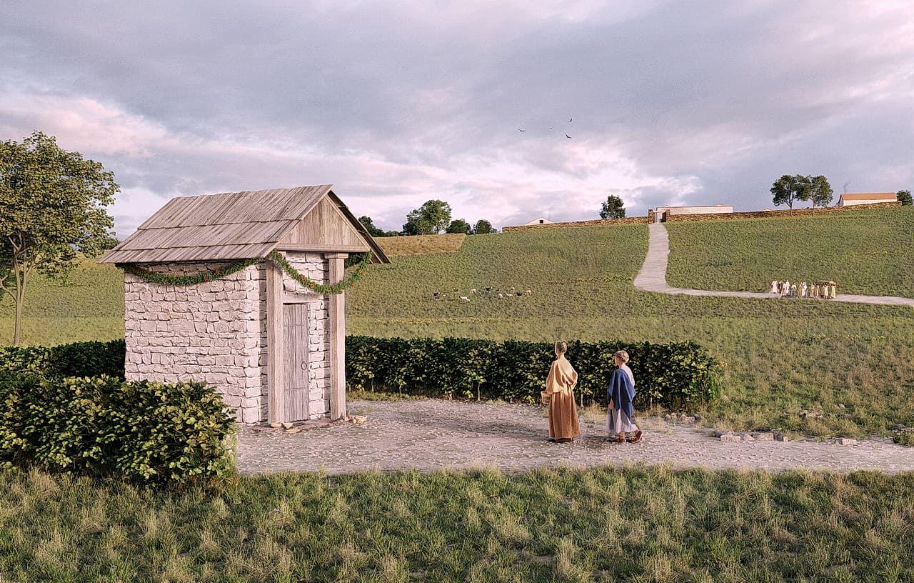 Römisches Heiligtum, Gutshof und Gräberfeld UlmMerklingen