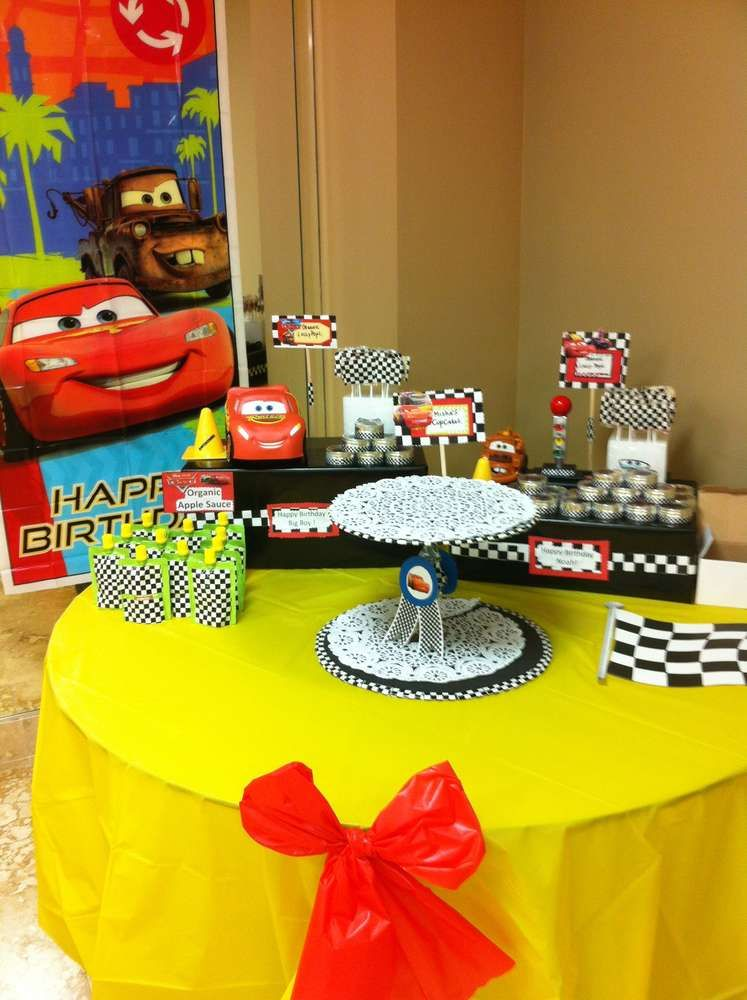 Cars Birthday Party Ideas | Photo 4 of 8 | Catch My Party