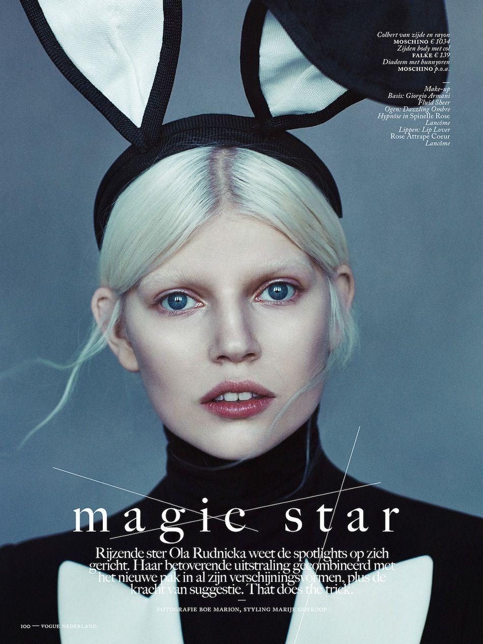 Vogue nederland ola rudnicka moschino fashion mode moda