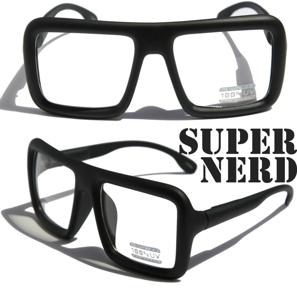 8680242636 Large Retro Nerd Bold Thick Square Frame Classic Eye Glasses Wallpaper