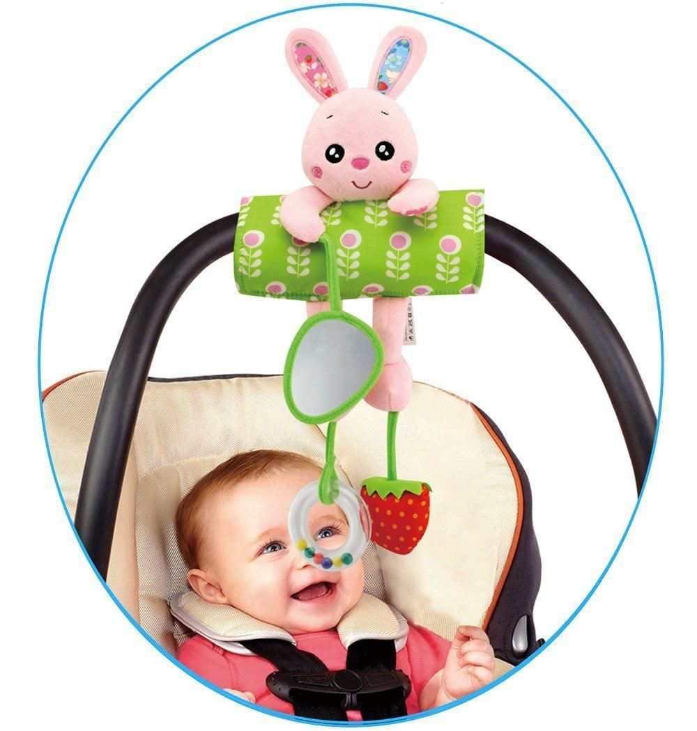 Daisy Baby Infant Plush Rabbit Animal Rattle Stroller Crib
