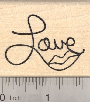 Love Lips Rubber Stamp, Saying (G20917) $9 at RubberHedgehog.com
