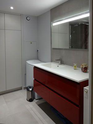 rangement optimisé pour salle de bain Salle de Bain rénovée - aD