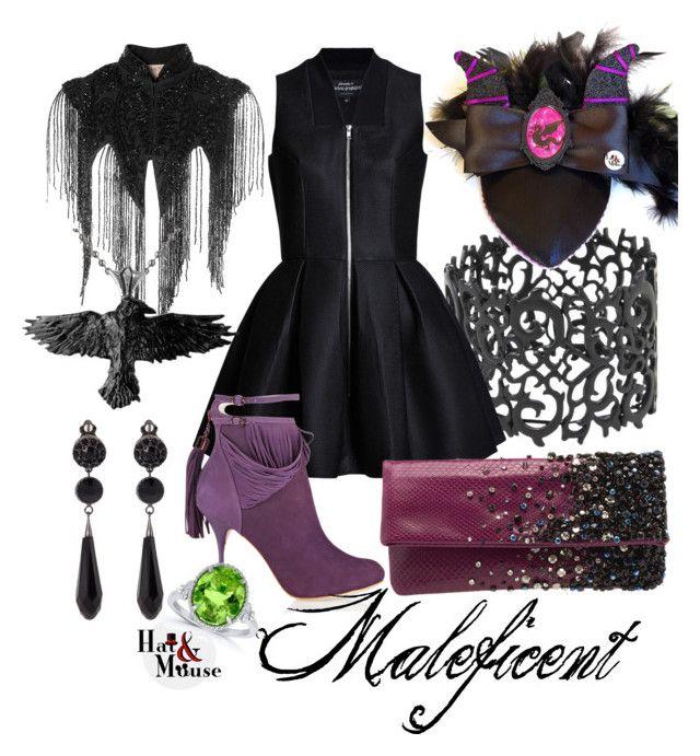 Maleficent Vintage Style Pinup Disneybound For Dapper Day