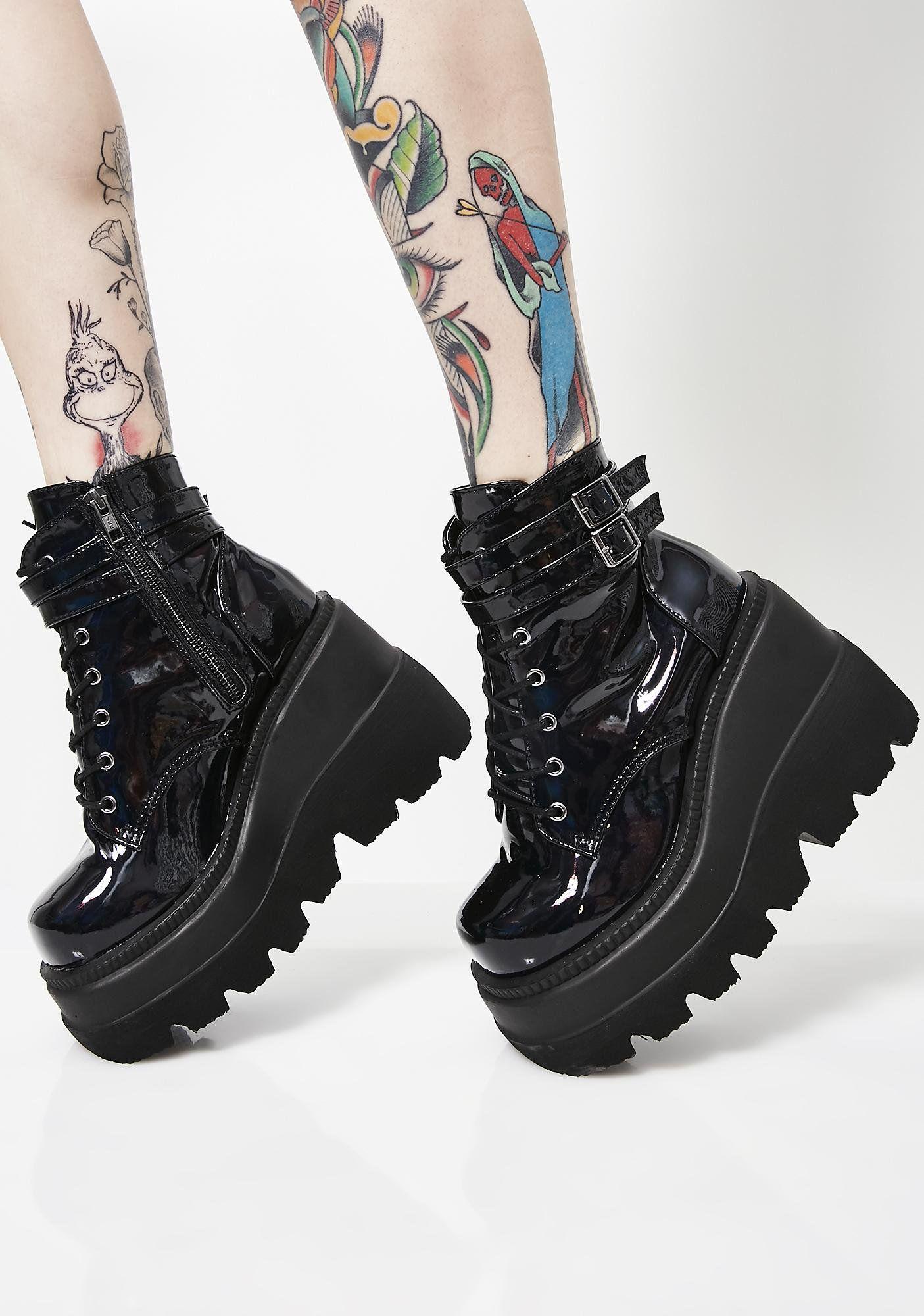 fee88d24729a Dark Prism Technopagan Boots in 2019