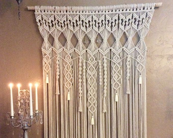 Macrame Pattern Diy Wall Hanging Tutorial Pdf Extra