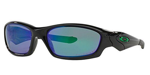 491de3f413 Amazon.com  Oakley Men s Straight Jacket Polarized Sunglasses (Polished  Black